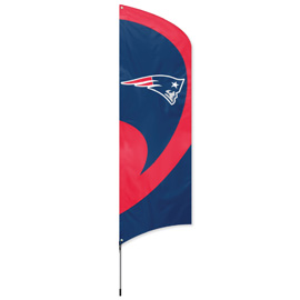 New England Patriots Tall Team Flag Kit with Pole