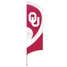 Oklahoma Tall Team Flag Kit with Pole