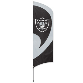 Las Vegas Raiders Tall Team Flag Kit with Pole