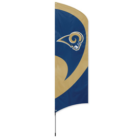 Los Angeles Rams Tall Team Flag Kit with Pole