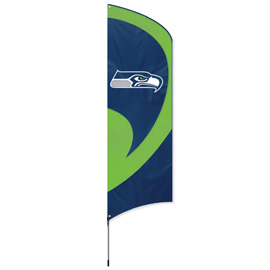 Seattle Seahawks Tall Team Flag Kit with Pole