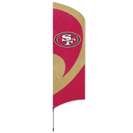 San Francisco 49ers Tall Team Flag Kit with Pole