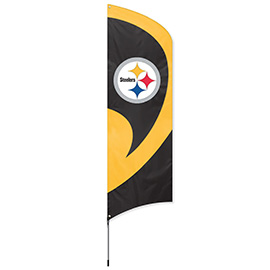 Pittsburgh Steelers Tall Team Flag Kit with Pole