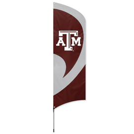 Texas A&M Tall Team Flag Kit with Pole