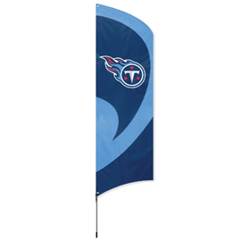 Tennessee Titans Tall Team Flag Kit with Pole