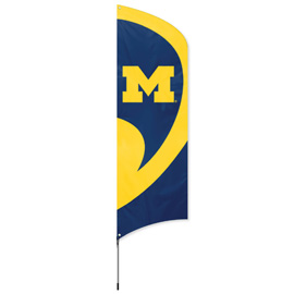 Michigan Tall Team Flag Kit with Pole