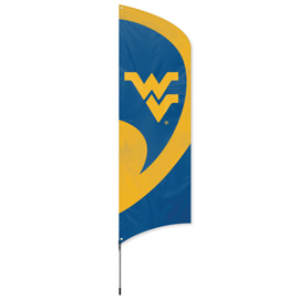 West Virginia Mountaineers Tall Team Kit with Pole