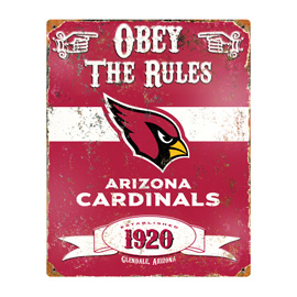 Arizona Cardinals Embossed Metal Sign