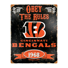 Cincinnatti Bengals Embossed Metal Sign