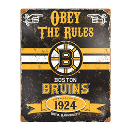 Boston Bruins Embossed Metal Sign