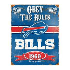 Buffalo Bills Embossed Metal Sign