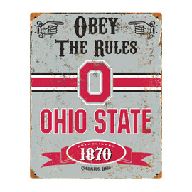 Ohio State Buckeyes Embossed Metal Sign