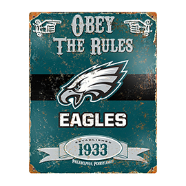 Philadelphia Eagles Embossed Metal Sign
