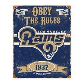 Los Angeles Rams Embossed Metal Sign