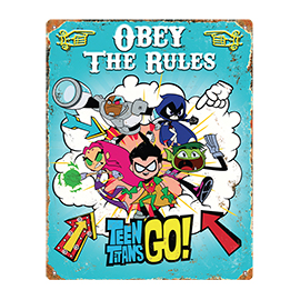 Teen Titans Go! Embossed Metal Sign